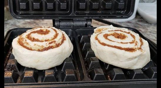 CINNAMON ROLL WAFFLES   Easy Waffles Breakfast   Self Quarantine Cooking