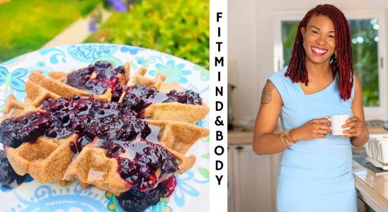 Easy Oatmeal Waffle Recipe With Quick Blueberry Sauce:  Fit Mind & Body Kitchen