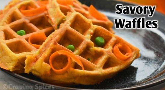 Easy Whole Wheat & Chickpea Waffles!! Savory Waffles
