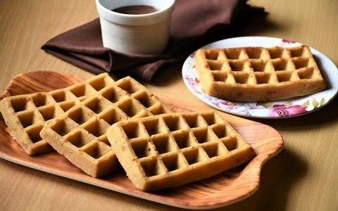 Eggless Whole Wheat Waffles without Waffle Maker