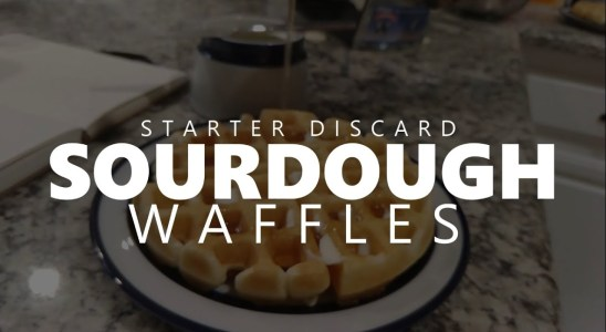 Sourdough Discard Waffles How To Recipe & Tutorial - Baking at Home!