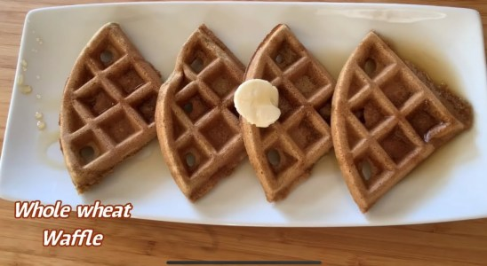 Whole wheat Waffle Recipe | Perfect homemade waffles | Easy and crispy Homemade waffles recipe |