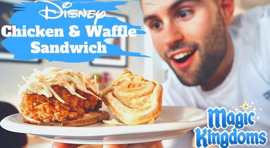 Disney Chicken and Waffle Sandwich Recipe / Magic Kingdom Sleepy Hollow Restaurant