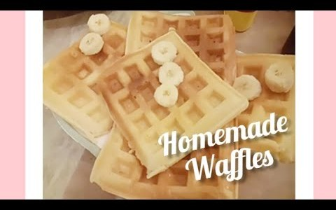 Homemade Eggless Waffles Recipe - Delicious Waffles - Simple & Easy to make Waffles