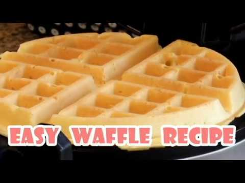 How to Make Waffle/ Easy and Crispy Homemade Waffles Recipe