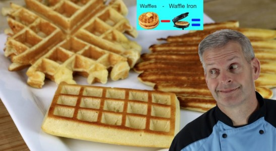 How to Make Waffles WITHOUT a WAFFLE IRON