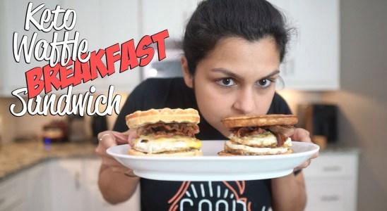 How to Make a Keto Waffle Breakfast Sandwich TWO WAYS