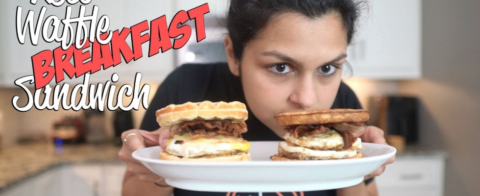 How to Make a Keto Waffle Breakfast Sandwich TWO WAYS