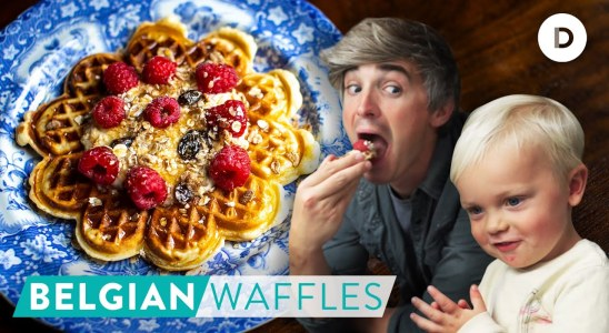 RECIPE: My BEST Belgian Waffles with Noah!