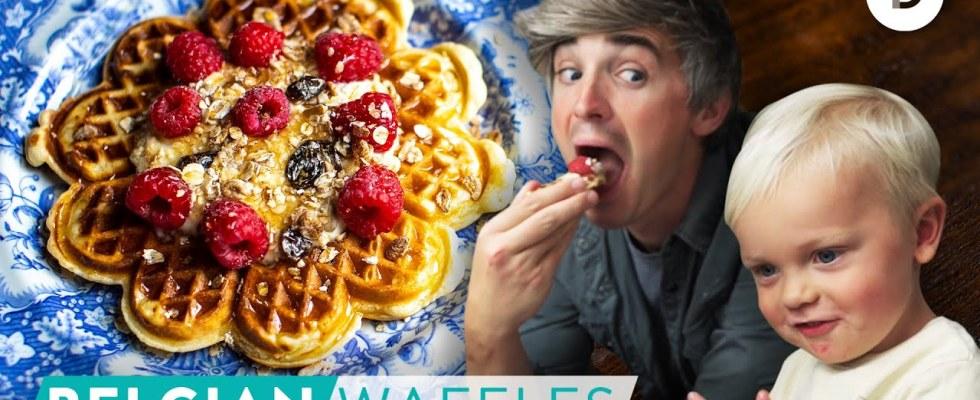 RECIPE: My BEST Belgian Waffles with Noah!