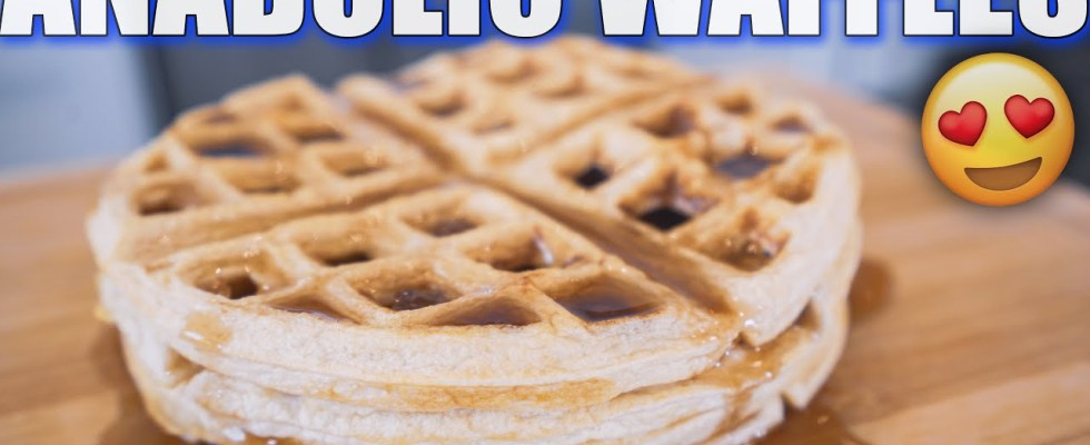 ANABOLIC BUTTERMILK WAFFLES I High Protein Bodybuilding Breakfast Recipe