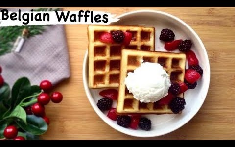 Easy Belgian Waffles Recipe | How to make instagram worthy waffles at home