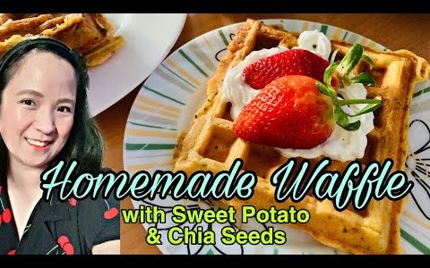 Homemade Waffles with Sweet Potato and Chia Seeds (Easy Recipe & Healthy Ingredients)by Always Lanna