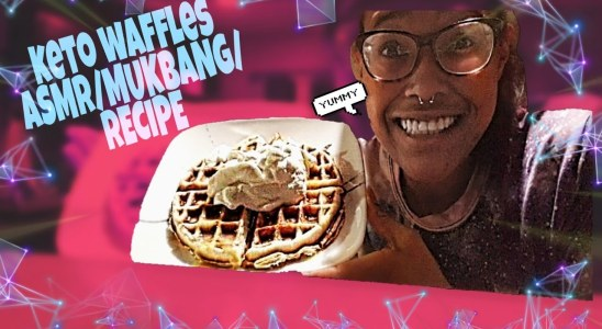 Keto Waffles RECIPE/MUKBANG/ASMR(Whispering)