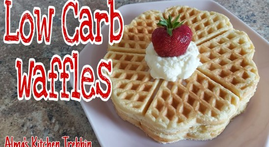 LOW CARB WAFFLES / Sugar free/Gluten free/Easy Healthy Keto Waffles||Alma's Kitchen Trebbin