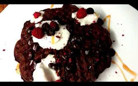 2 ingredient waffles - vegan and gluten-free recipe