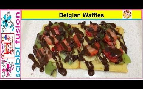Belgian Waffles Recipe | How to make Belgian Waffles | Easy Breakfast Recipe | By Sabbi Fusion