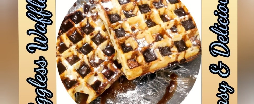 Eggless Waffles Easy & Delicious Recipe|| How to make waffles in home easily