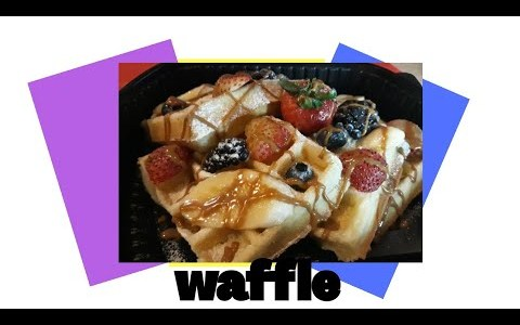 HOW TO MAKE WAFFLE/EASY RECIPE