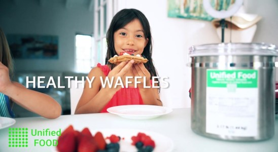 Healthy waffle recipe (Unified Food). Nutritionally complete meal.