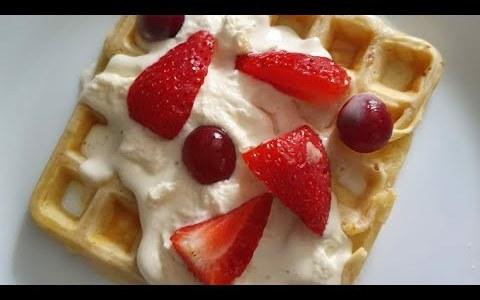 How to make sweet waffles (homemade waffles)