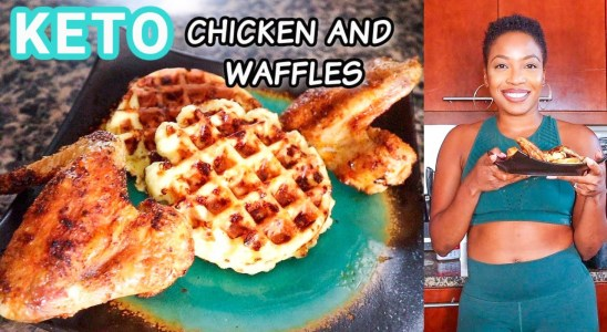 KETO Chicken And Waffles Recipe | Low Carb/Sugar Free | DejaFitBeauty