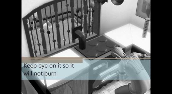 Sims3 making of Waffles Recipe