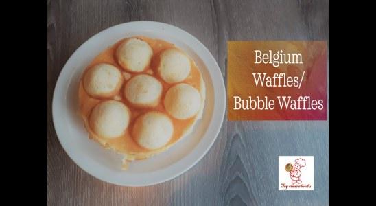 Belgium Waffles | Bubble Waffles | Waffles recipe without egg| Waffles recipe without machine|