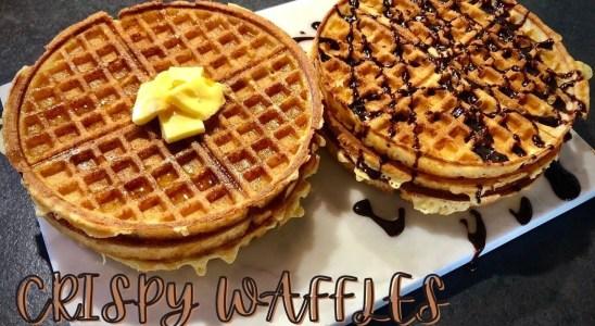 Crisy Waffles Recipe