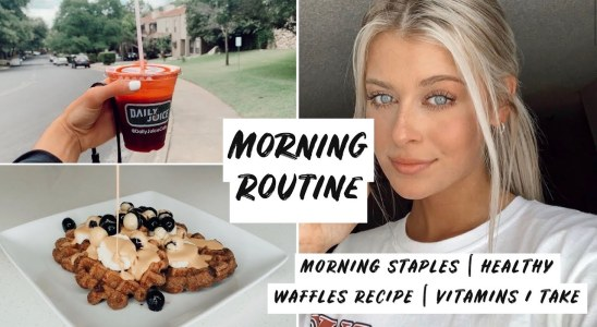 MY SUNDAY MORNING ROUTINE: new protein waffles recipe, daily vitamins, why I take them, and MORE!!
