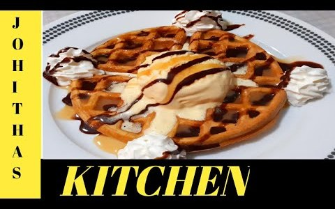 Sweet and Tasty Waffles Recipe | Tasty Waffles | Done by Johitha's Kitchen