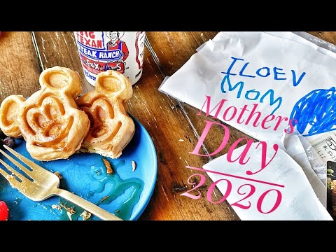 Trying Disney World's Mickey Waffle Recipe on Mother's Day 2020