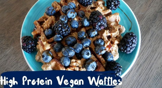 Vegan Protein Waffles (Healthy and whole wheat)