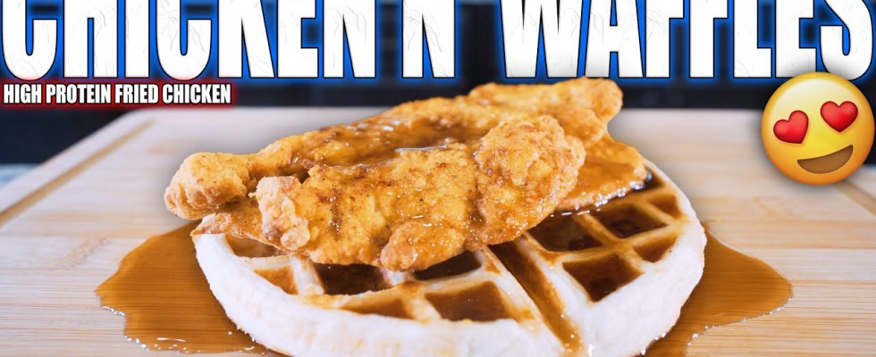 ANABOLIC CHICKEN & WAFFLES | High Protein Low Calorie Bodybuilding Recipe