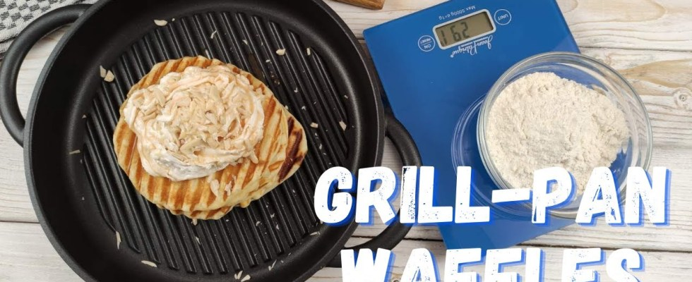 Grill-pan Waffles Recipe (with the Whatever Pan) | Best Cookware | Non Stick