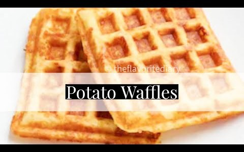 Homemade Potato Waffles | How to make grated Potato Waffles | Savory Waffle