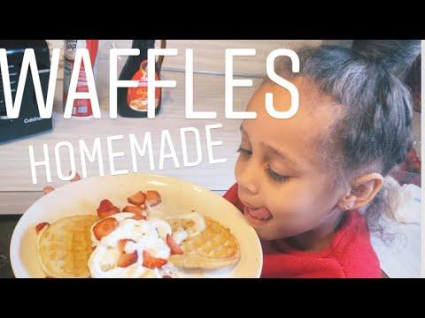 Homemade waffles yummy