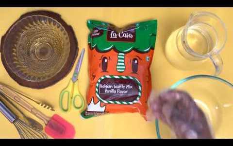La Casa's French Vanilla Belgian Waffle Mix Recipe