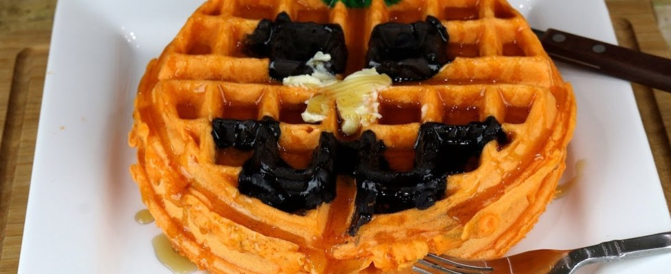Pumpkin Waffles | Halloween Recipes