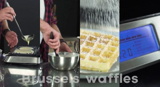 Recipe video Brussels waffles