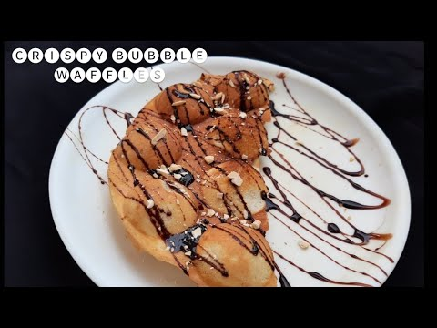 bubble waffles without waffle maker an egg | how to make waffles
