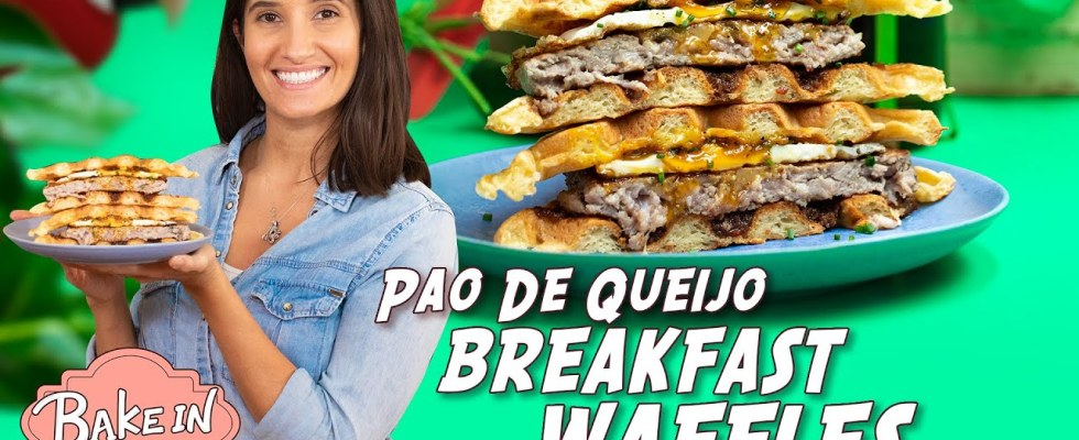 Delicious Breakfast Waffle Sandwich Recipe With Tara | Bake In