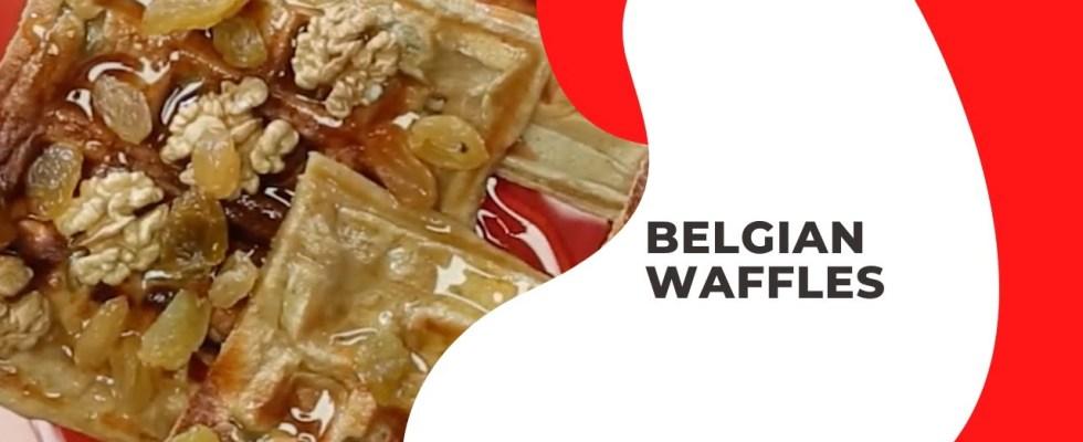 Homemade Belgian Waffles Recipe    HOW TO MAKE WAFFLES    Red Balloon Media [2020]