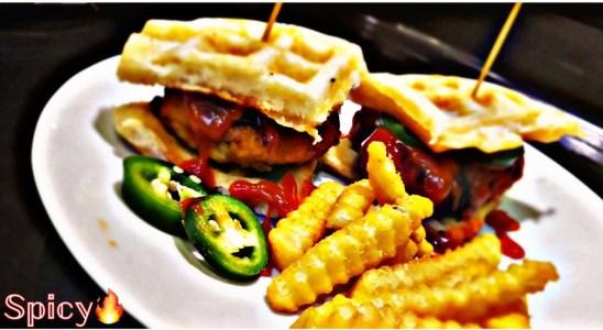 Spicy AMAZING Chicken Waffle #koolzone #wafflegang
