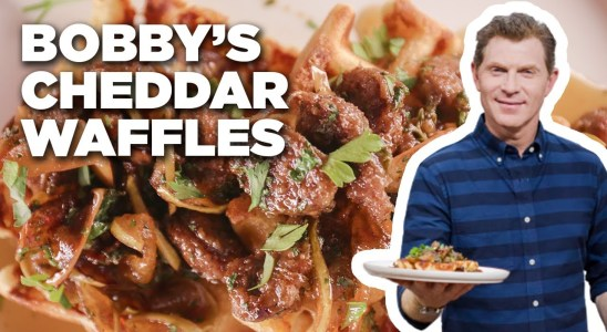Bobby Flay's Cheddar-Black Pepper Waffles | Brunch @ Bobby's | Food Network