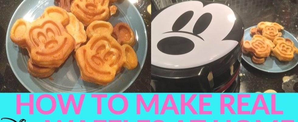 DIY: Making Disney Parks-Style Mickey Waffles at Home - 2 Different Recipes Compared + REVIEW