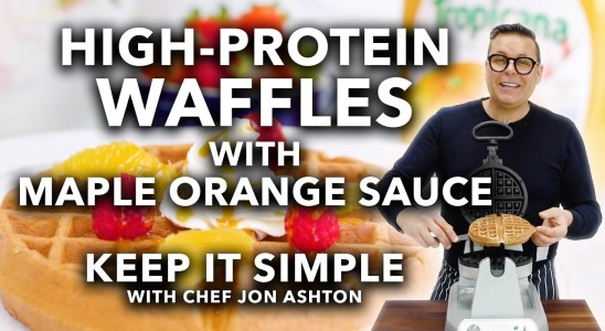 High Protein Waffles with Maple Orange Sauce | Keep it Simple