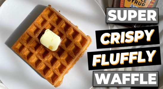 How To Make Crispy Waffle - Made with Breville Waffle Maker