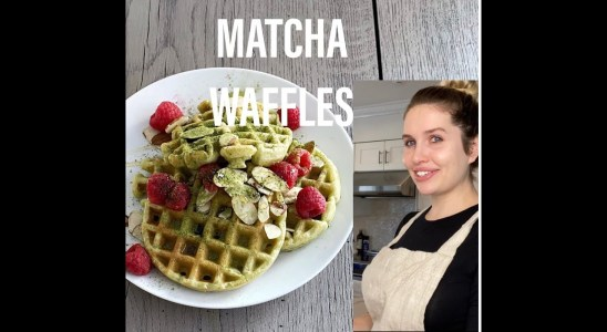 How to Make Perfect And Easy Homemade Matcha Waffles Recipe || Lalage  Aronov