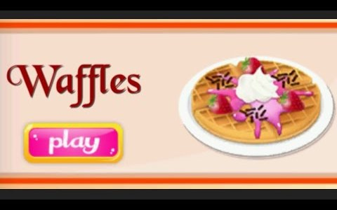Kids cooking game||Waffles recipe||kids cooking video||